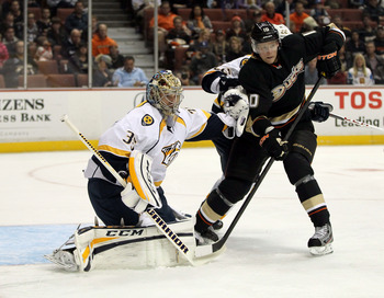 Where is Corey Perry? He is struggling mightily in the early parts of 2013.