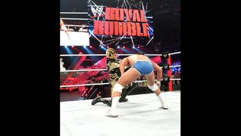 Goldust scores payback over his brother Cody Rhodes. (Courtesy of WWE.com)
