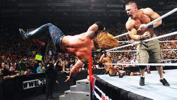 John Cena eliminates Heath Slater in the 2013 Royal Rumble. (Courtesy of WWE.com)