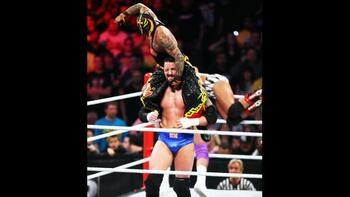 Wade Barrett looks to eliminate Rey Mysterio. (Courtesy of WWE.com)