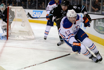 Ryan Nugent-Hopkins has been doing all of the small things correctly and helping his team, but has yet to find his offensive stride.