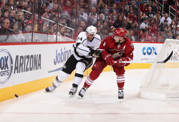 The Coyotes Keith Yandle needs to be more careful with the puck when he leaves his own zone