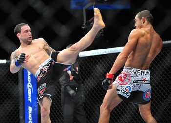 Edgar whiffed on many strikes against Aldo.