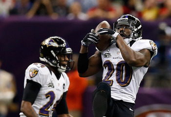 Baltimore's Ed Reed took advantage of a horrible thrown by Colin Kaepernick.
