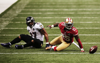 Ray Rice lost a fumble that allowed the 49ers to get back into the game.