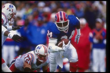 Thurman Thomas talked a lot, but when it came time to play he could not even find his helmet.