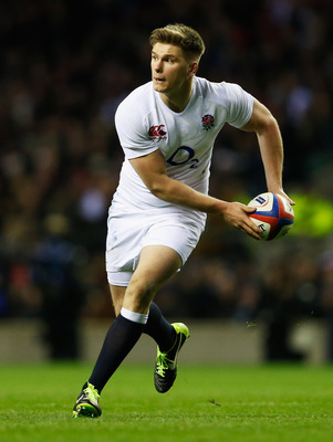LONDON, ENGLAND - FEBRUARY 02:  Owen Farrell of England in action during the RBS Six Nations match between England and Scotland at Twickenham Stadium on February 2, 2013 in London, England.  (Photo by Tom Shaw/Getty Images)