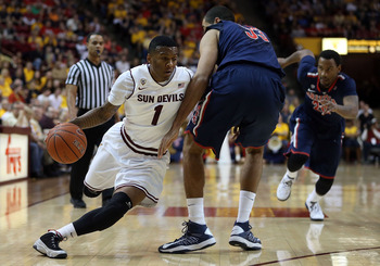 Freshman guard Jahii Carson against Arizona on January 19.