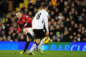 Wayne Rooney scored the only goal of the game for Manchester United at Fulham on Saturday.
