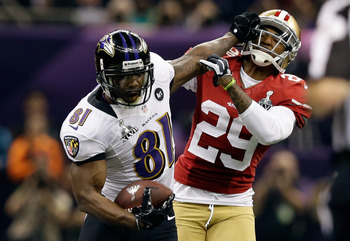 The 49ers could not match up with Boldin's size, and he finished with over 100 yards.