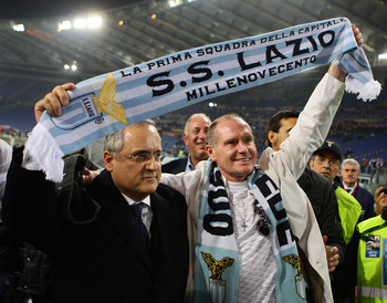 Gascoigne was treated as a hero by Lazio supporters.