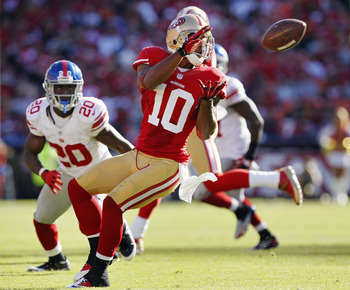 49ers wide receiver Kyle Williams was off to a solid start in 2012 before an injury in Week 12.