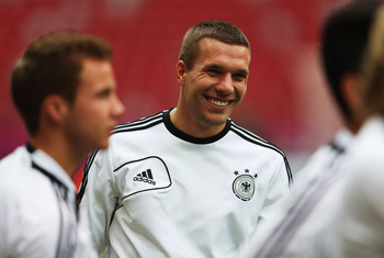 Lukas Podolski has already won 106 caps for Germany at the age of 27