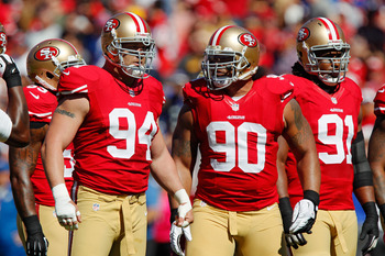 The 49ers defensive line struggled to repeat the success from the 2011 season.