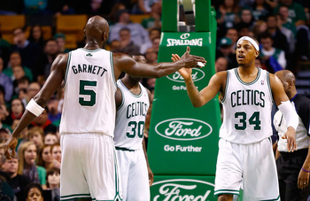 Kevin Garnett and Paul Pierce will lead the Celtics without Rondo.