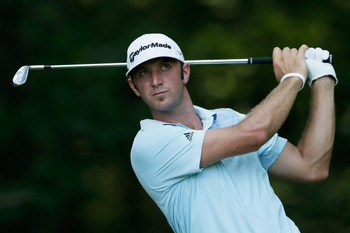 Dustin Johnson stares down a shot at the 2012 AT&T Pro-Am. He's won the event twice.