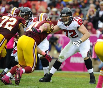 Sam Baker is one of the Falcons' 2013 free agents.