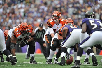 Dalton spends most of his time under center in the Bengals West Coast offensive scheme.