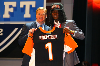 Dre Kirkpatrick was selected as the Bengals first-round pick in 2012.