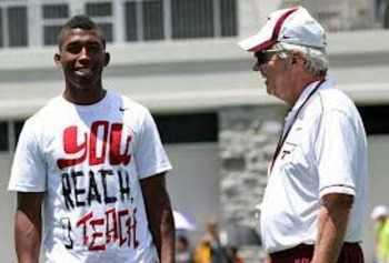 Kendall Fuller and Frank Beamer