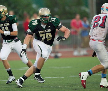 Oregon recruit offensive-tackle Evan Voeller. The Oregonian