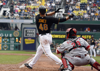 Garrett Jones' versatility in the field will be a plus for manager Clint Hurdle in 2013.