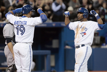 Bautista (left) and Encarnacion (right) should could both have 40 home runs if healthy all season.