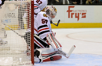 Corey Crawford is undefeated in regulation in the 2012-2013 regular season.