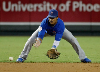 Cubs shortstop Starlin Castro fields a ground ball during a game against Arizona at Chase Field.