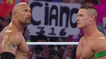 The Rock and Cena already had their once in a lifetime match last April. Photo Courtesy of WWE.com