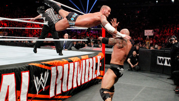 CM Punk and the Rock put on a great show at Rumble and barring any major miscues will have a great sequel at Elimination Chamber. Photo Courtesy of WWE.com