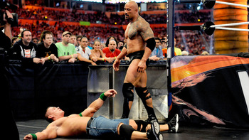 Last year at WrestleMania the Rock's stamina came into question. Will he be better this April? Photo Courtesy of WWE.com