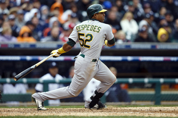 Yoenis Cespedes is climbing up the rankings