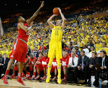 Nik Stauskas showed up to the Crisler Center with a little more emotion than usual.