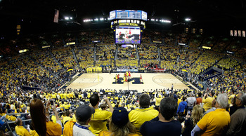The Crisler Center was packed to capacity on Tuesday night.