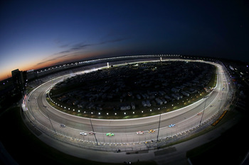 FORT WORTH, TX - NOVEMBER 04:  A General View of Texas Motor Speedway as cars race during the NASCAR Sprint Cup Series AAA Texas 500 on November 4, 2012 in Fort Worth, Texas.  (Photo by Ronald Martinez/Getty Images)