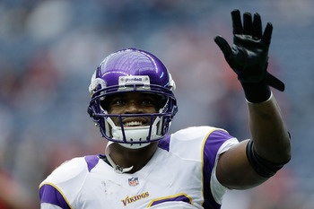 If Adrian Peterson improved his pass-blocking, then he could stay on the field for third down.