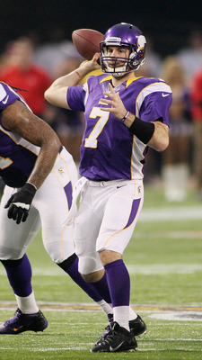 Two years into his career Christian Ponder struggles to succeed in the pocket and battles consistency issues.