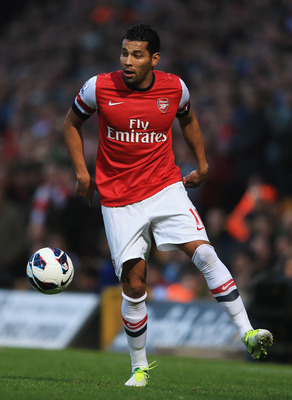 Andre Santos has had a difficult season at Arsenal.