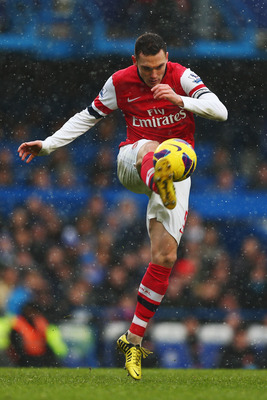 Thomas Vermaelen in action in the Premier League.