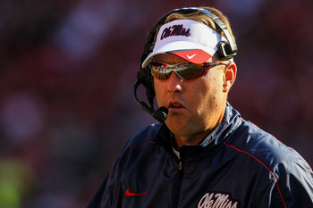 Ole Miss head coach Hugh Freeze