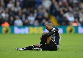 Jermaine Defoe's injury will keep him out for three weeks
