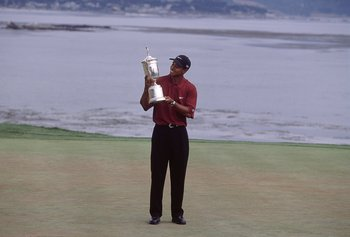 Tiger Woods almost defied description with his record-breaking performance in the 2000 U.S. Open.