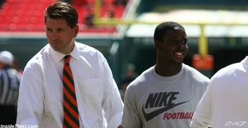 Miami head coach Al Golden courting Sony Michel.  Via 247Sports