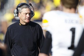 Iowa head coach Kirk Ferentz
