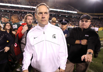Michigan State head coach Mark Dantonio