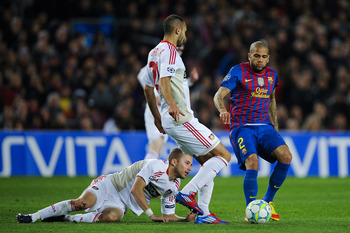 FC Barcelona vs. Bayer Leverkusen in the UEFA Champions League on March 7, 2012