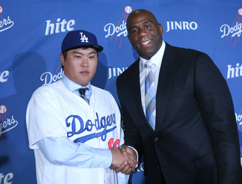 The Dodgers signed South-Korean lefty Hyun-Jin Ryu to improve an already deep rotation.