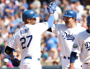 Matt Kemp and Adrian Gonzalez should exchange a lot of high fives this season.