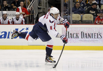Washington's Alexander Ovechkin fires a shot against Pittsburgh on Feb. 7.
